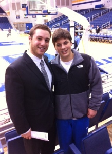 My brother Brett and I following a Hofstra game in 2012-13.
