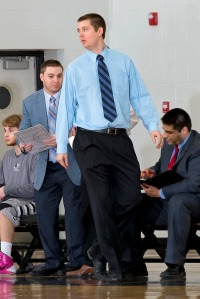 Coach Turner taking advice from yours truly during a 2014 game.
