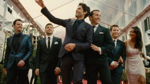 The Entourage is back in a very enjoyable movie follow - up to the HBO show.