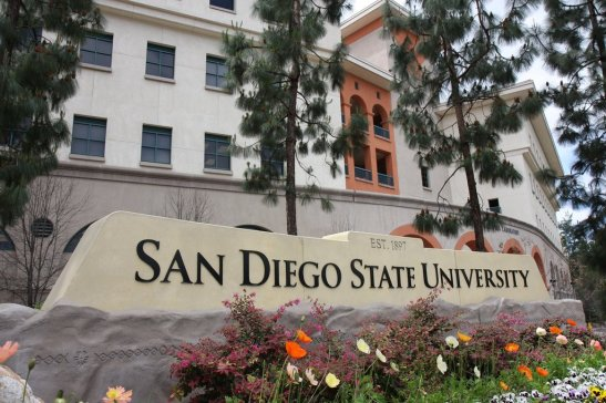 If I could be recruiting anywhere, it would be on the ridiculously beautiful San Diego St University campus.