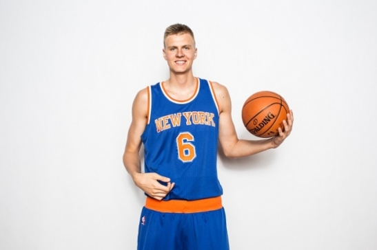 Knicks rookie forward Kristaps Porzingis has not quite put everything together yet, but has shown flashes. (Getty Images)